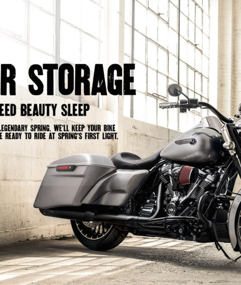 $350 Motorcycle Winter Storage + FREE Pick Up and Drop Off